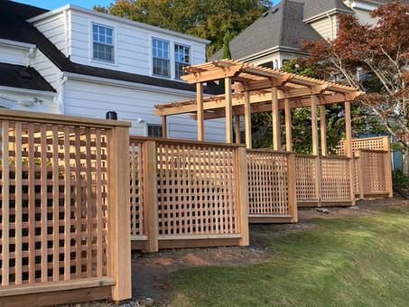 Custom Premium Lattice Cedar Fence