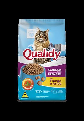 Qualidy Gatos Castrados Frango e Arroz -
