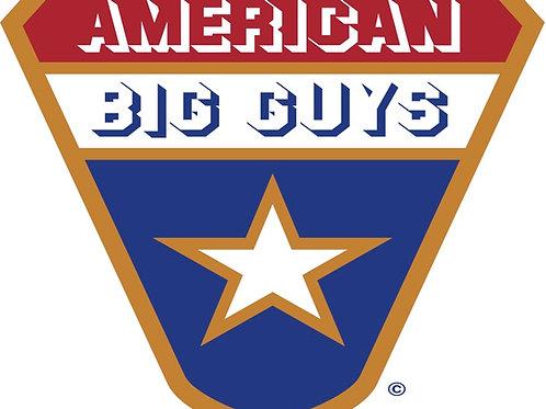 601 - American Big Guys Logo Sticker