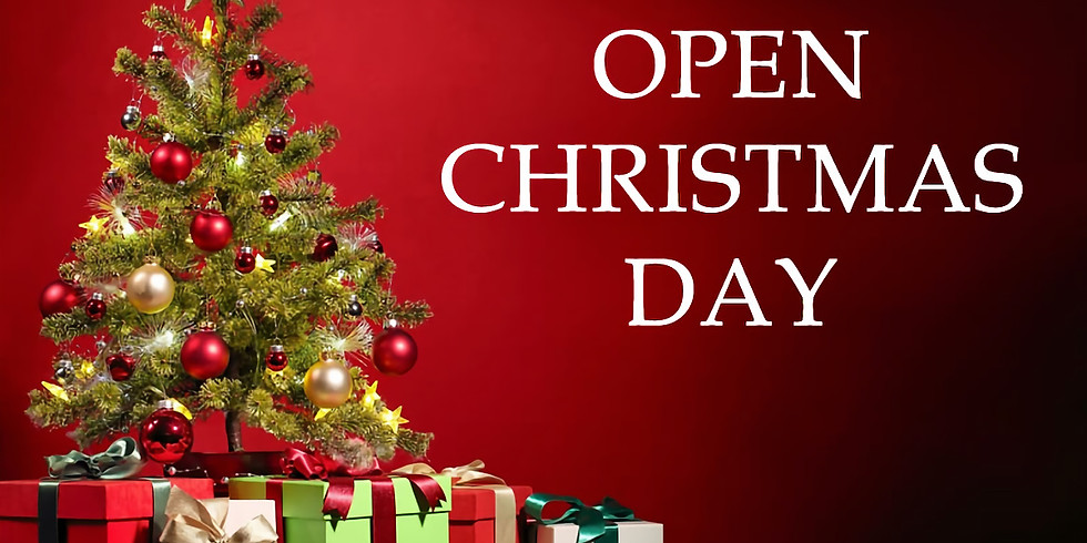Open Christmas Day 3pm to 7pm