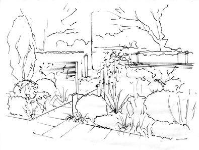 Front garden planting sketch