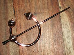 Bronze cloak pin