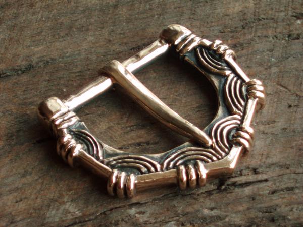 Viking belt buckle, bronze