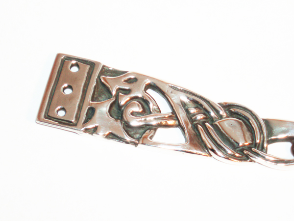 Belt strap end
