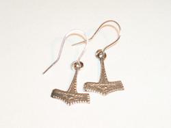 Thors hammer earrings