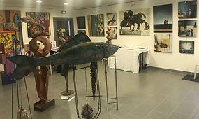 Salle d'exposition artistes aux caudalies