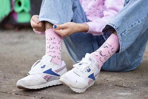 Titties socks: pink