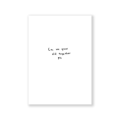 Can we grow old together card