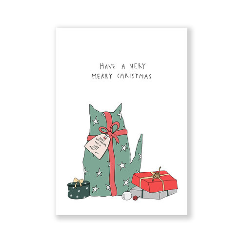 Christmas card: This is NOT a cat