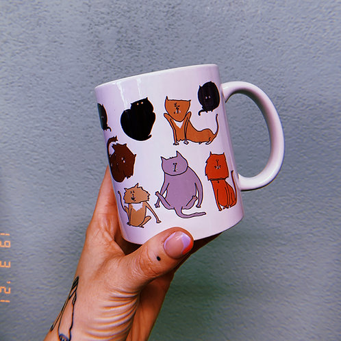 Weird cats mug
