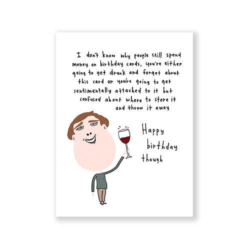 Happy birthday though card
