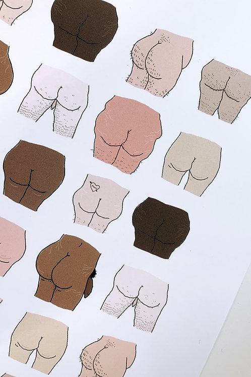 A4 butts print