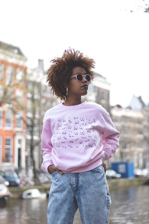 Titties sweatshirt: pink or white