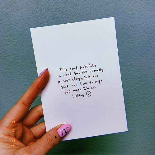 "Wet sloppy kiss A6 postcard ""mini print"""