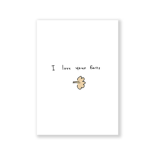 I love your farts card