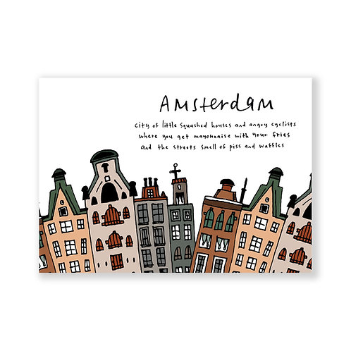 Amsterdam post card: white