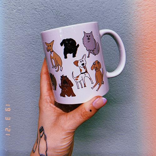 Weird dogs mug