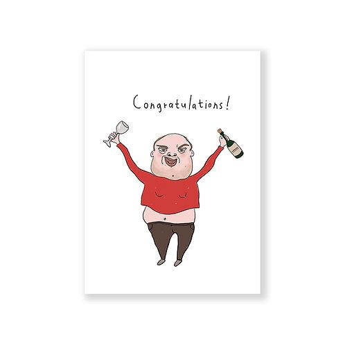 Congratulations man card