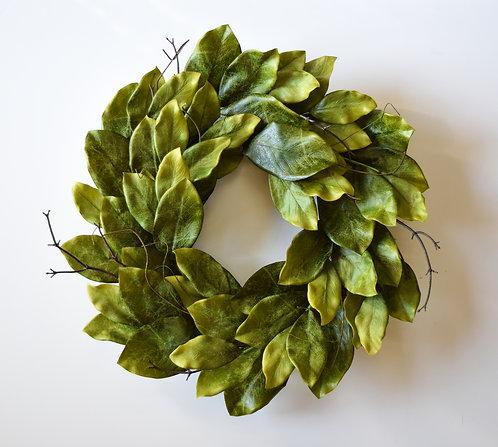 "Southern Magnolia Wreath - 24"""