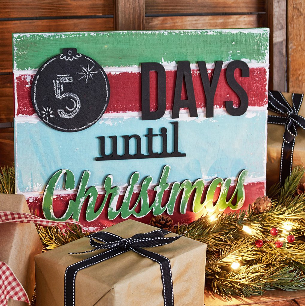 Countdown To Christmas Sign.Days Until Christmas Sign
