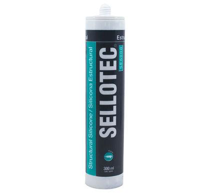 Sellotec Silicona Estructural SE6000 Negra 300ml