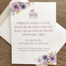 CONVITE | AVELÃ DOCES