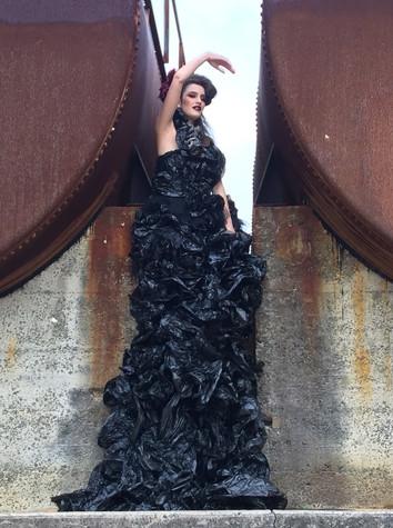 Garbage Plastic Bag Gown