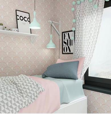 Teenage Girls Bedroom.