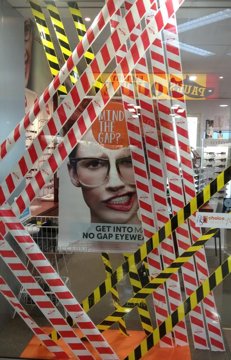 Mind the Gap Retail Window Display