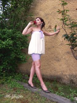 Vêtement Transformable lavande blanc