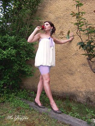 Vêtement Transformable Adulte L'Intemporel Lavande et Blanc