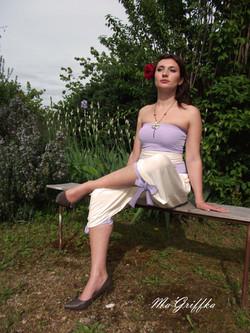 Vêtement Tranformable lavande blanc
