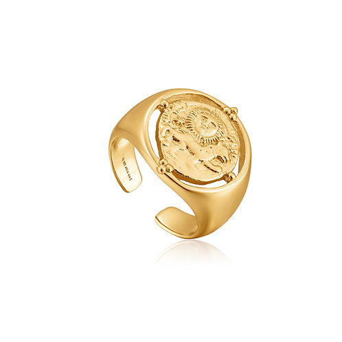 Seljuks signet adjustable ring gold