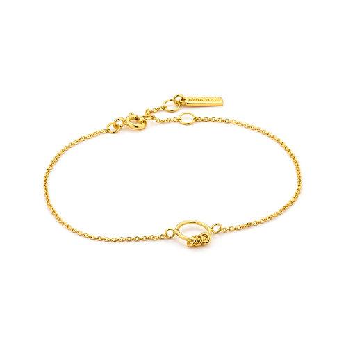 Modern circle bracelet gold