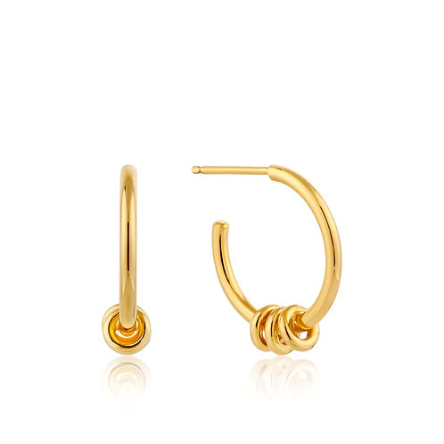 Modern hoop earrings gold
