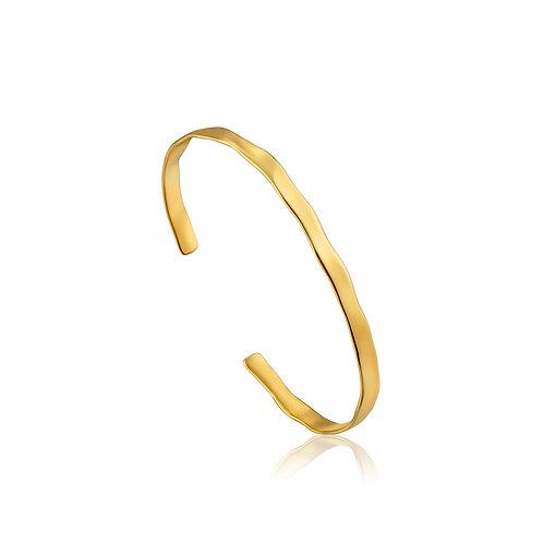 Crush cuff bracelet gold