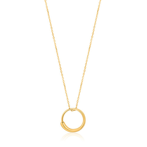 Luxe circle necklace gold