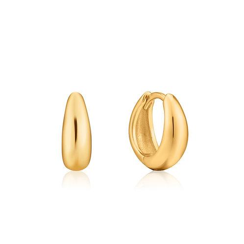 Luxe huggie hoop earrings gold