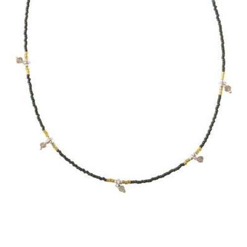 Ketting Cocoon Labradoriet silver
