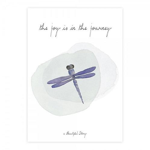 Wenskaart The joy is in the journey