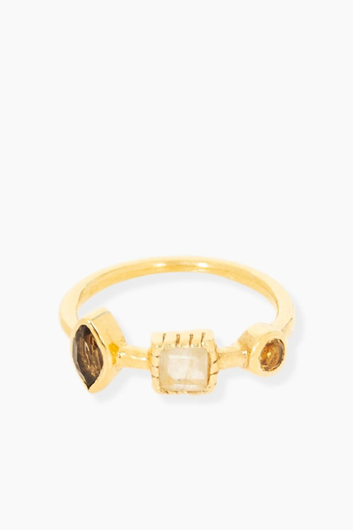 Détail Ring gold plated Rosia maat 52