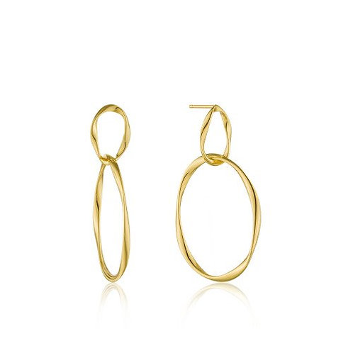 Swirl nexus earrings gold