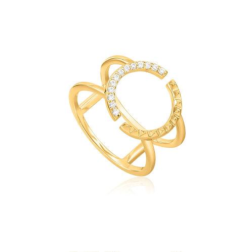 Adjustable ring spike gold