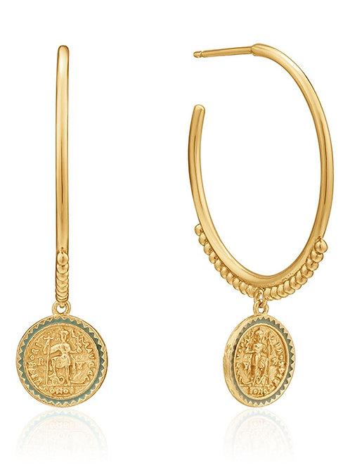 Emperor hoop earrings gold