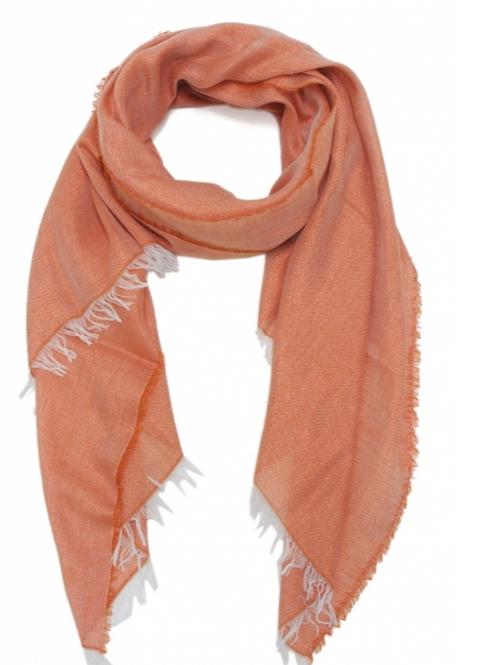 Gewoven sjaal oranje glitter