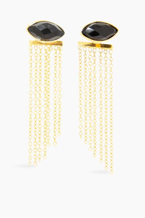 Détail oorbellen gold plated Felicita