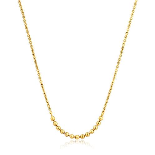 Modern multiple balls Necklace gold