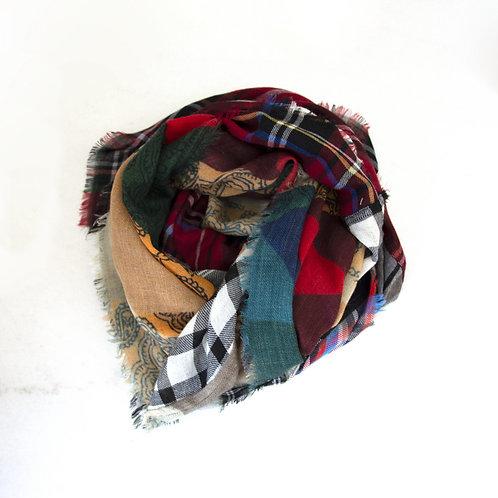 Sjaal patchwork charmine