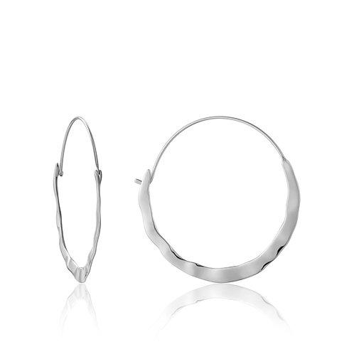 Crush hoop earrings silver