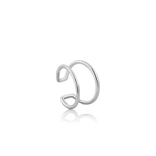 Modern ear Cuff silver